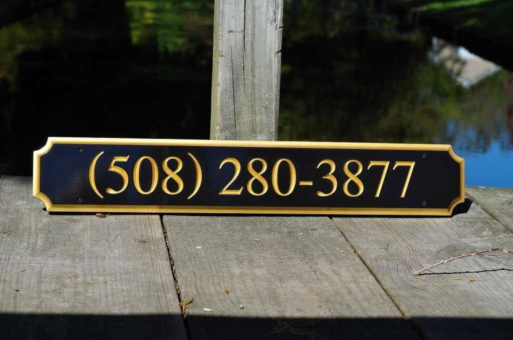 Custom Carved Quarterboard for Store front Business sign - with phone number (Q36) - The Carving Company