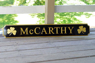 Custom Carved Quarterboard sign - Personalize with address, name, or place, and image (Q24) - The Carving Company