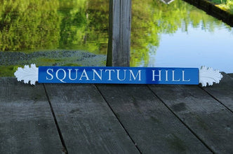 Nantucket Quarterboard Custom House Signs with Decorative Ends (Q20) - The Carving Company