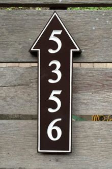 5356 Up arrow house sign front view
