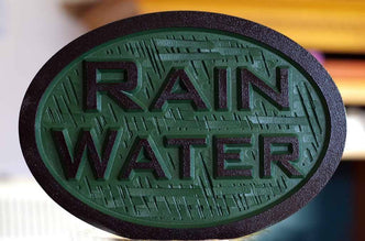 Carved Rain or Well Water notice Plaque- Irrigation Sign (LN45) - The Carving Company