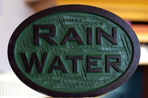 rain water for irrigation sign