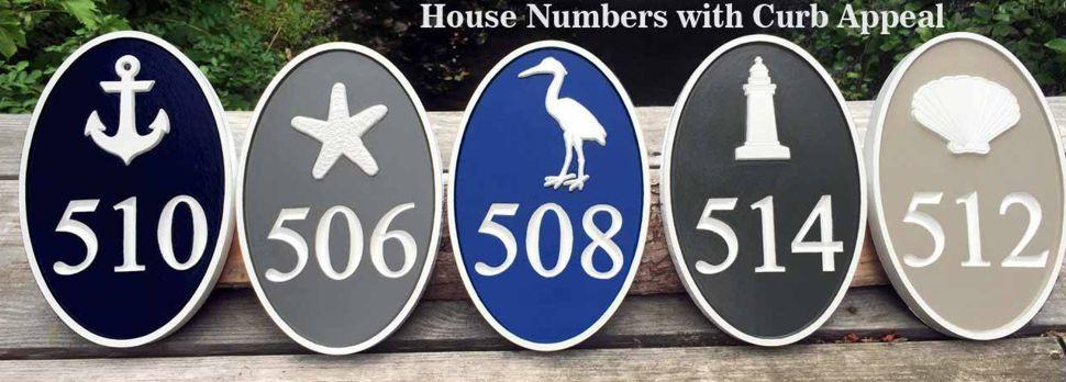 Customize your house number plaque