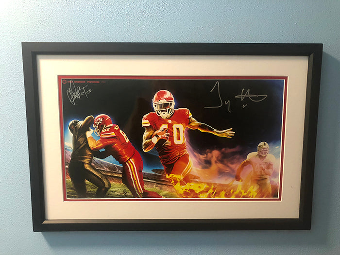 "Framed: Afterburner 13x19"" Print Signed by Tyreek Hill"