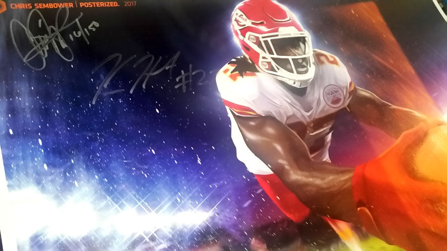 "Signed by Kareem Hunt: Another Plane 13x19"" Print"