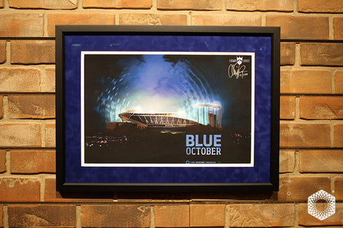 Blue October: Framed & Matted