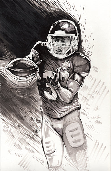CS026: Tyrann Mathieu Pen + Ink Illustration