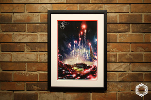 Electric Flyover: Framed & Matted