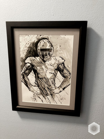1 of 1 Framed: 20 Minute Ink + Brush Sketch - Tanoh