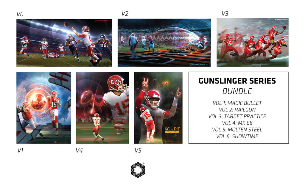 "Bundle: Gunslinger Series Vol 1-6 (Six 13x19"" Prints)"