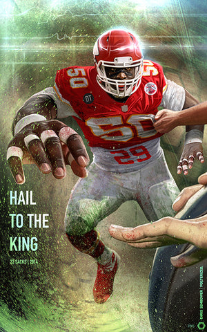 "Hail To The King: Posterized 13x19"" Paper Print"