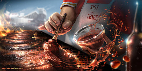"Kiss The Chief: Posterized 13x19"" Paper Print"