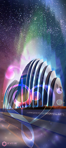 "Opera House: Posterized 13x19"" Paper Print"