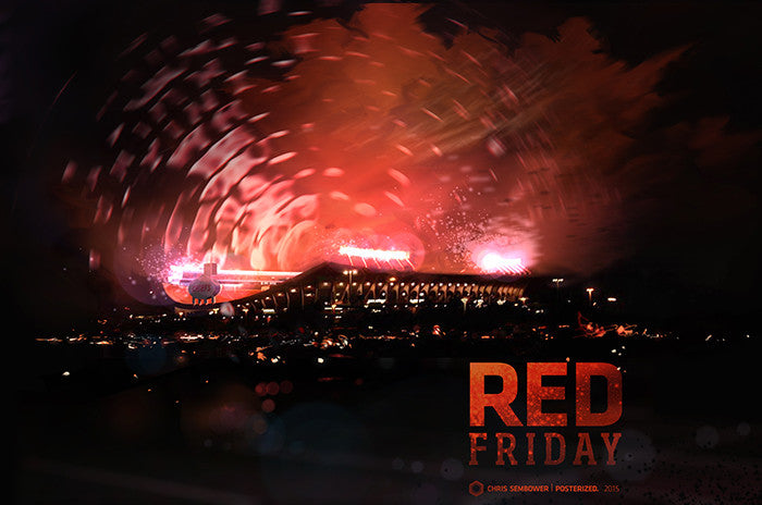"Red Friday: Posterized 13x19"" Paper Print"