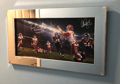 "Signed & Framed: Gunslinger vol 6 - SHOWTIME 13x19"" Print - Signed by Patrick Mahomes - With Metal Frame"