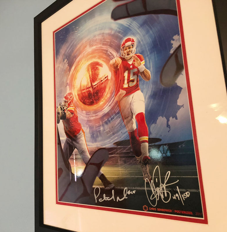 Framed: Magic Bullet Signed by Patrick Mahomes