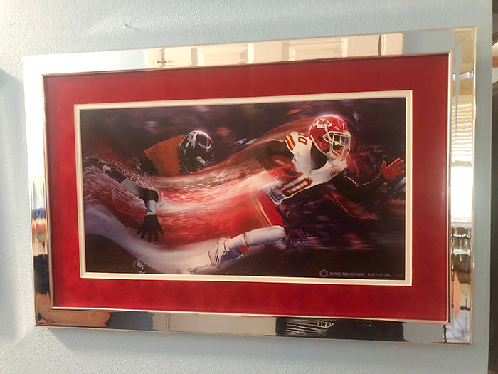 "Signed & Framed: Slipstream 13x19"" Print Signed by Tyreek Hill with Chrome Frame + Suede Matte"