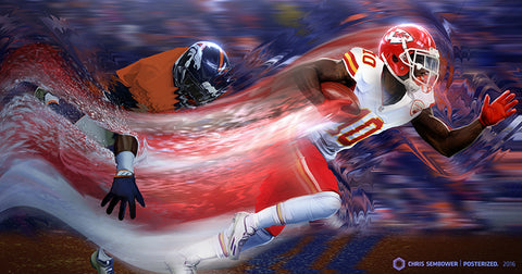 "Signed by Tyreek Hill: Slipstream 20"" Acrylic Print"