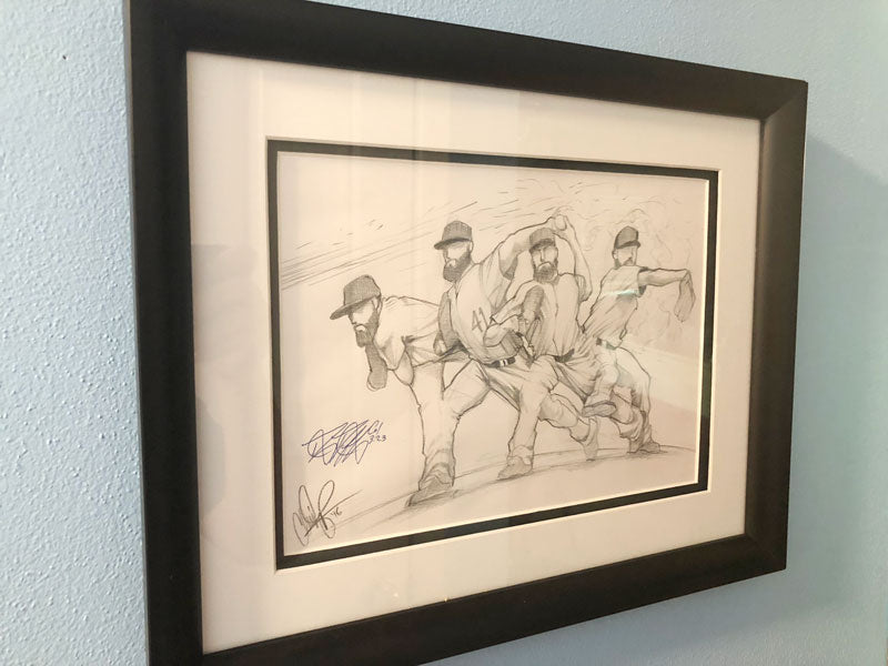 1 of 1 Framed: Snapshot Sketch Signed by Danny Duffy