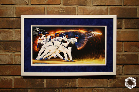 Throwing Fire: Framed & Matted