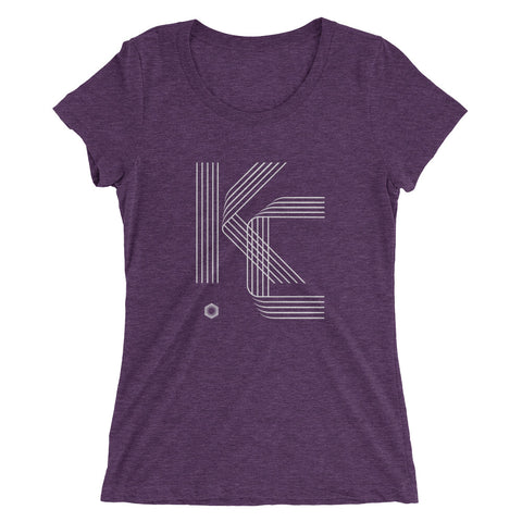 KC Five Line: Ladies' Triblend short sleeve t-shirt