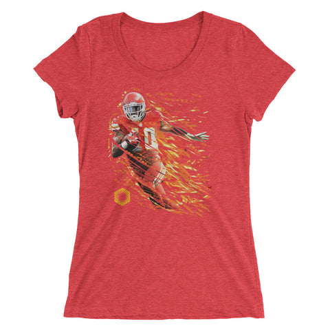 Afterburner-X: Limited Edition Tri-Blend Ladies short sleeve t-shirt