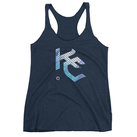 KC Gothic (Paint Roll): Women's Triblend Racerback Tank