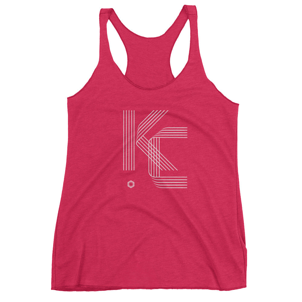KC Five Line: Women's Triblend Racerback Tank
