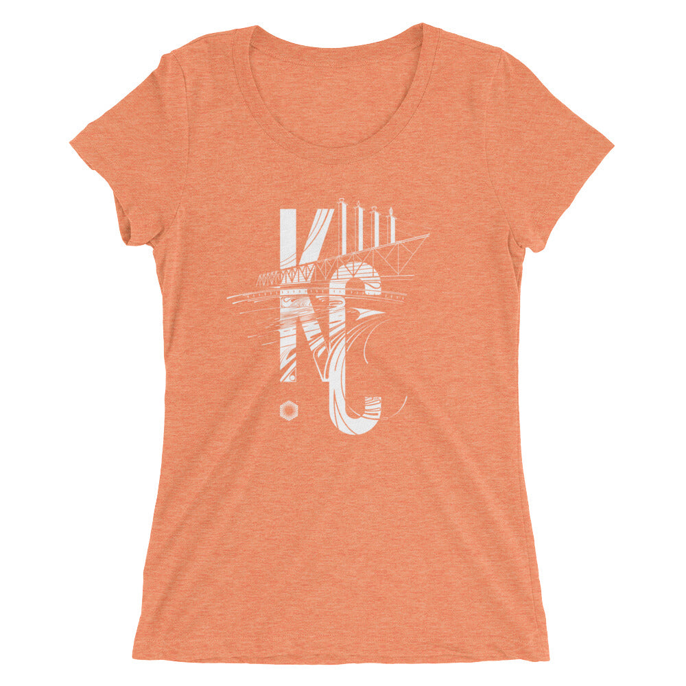 KC Bartle: Ladies' Triblend short sleeve t-shirt