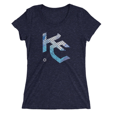 KC Gothic (Paint Roll): Ladies' Triblend short sleeve t-shirt