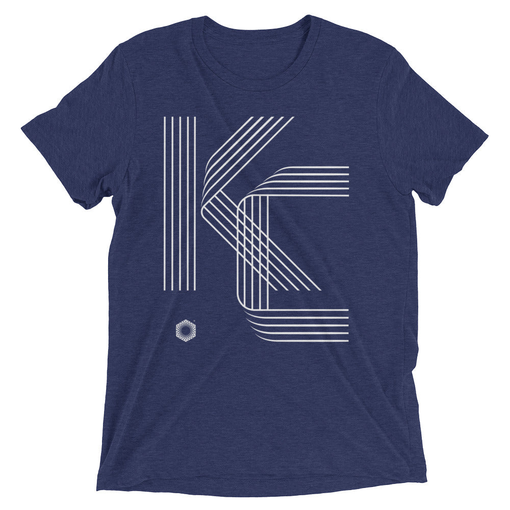 KC Five Line: Mens Triblend Short sleeve t-shirt