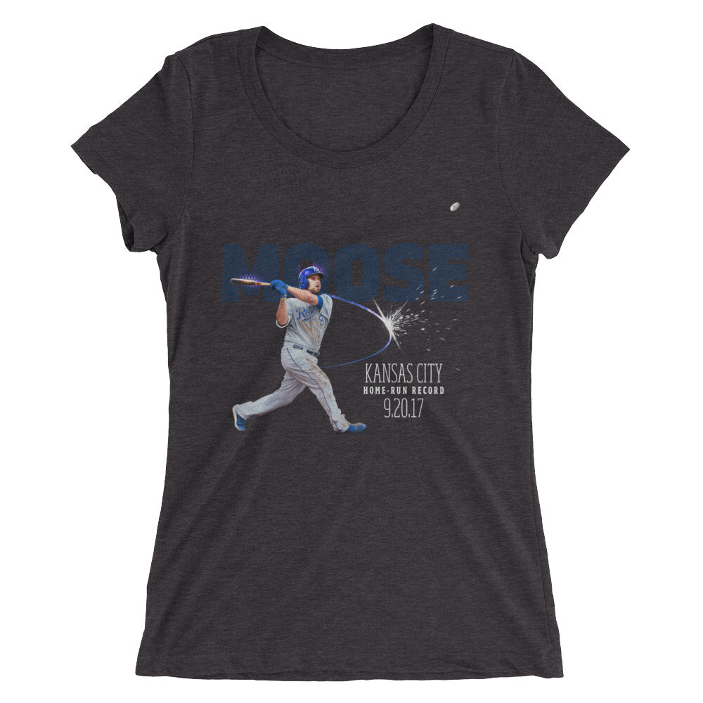 Home Run Record: Limited Edition Ladies' Form Fit Tri-Blend  Short Sleeve T-shirt