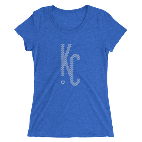 KC Ligature One: Ladies' Triblend short sleeve t-shirt