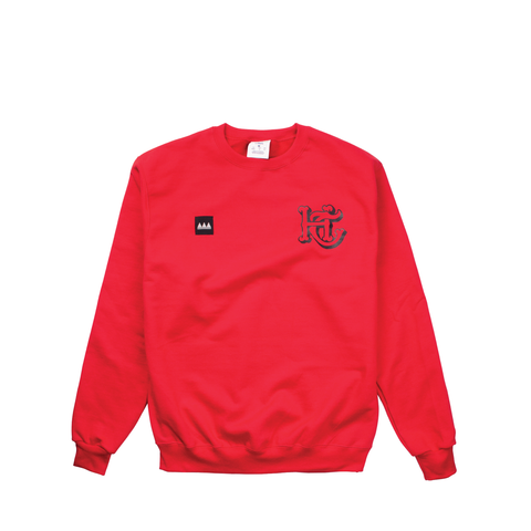 Red Logo Crew Neck