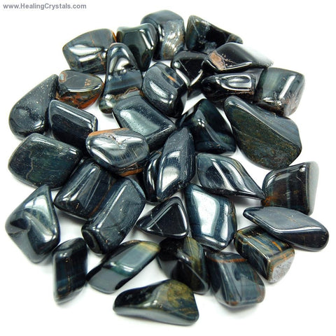 Small Blue Tigers Eye pocket stone (rare color)