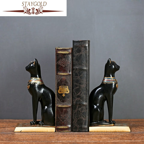 STAYGOLD Zakka Egyptian Cat Resin Statue