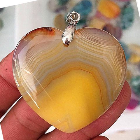 50mm Natural Agate pendant