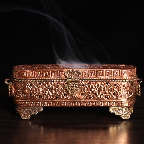 Brown Brass Incense Burner/ Incense Sticks Holder/ Ceramic Incense Censer