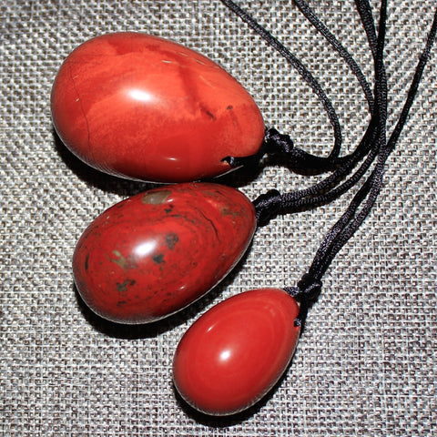 Natural Red Jasper Yoni Eggs