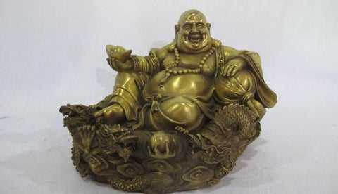 "7""Chinese Buddhist Brass Statue"