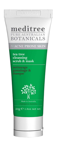 tea tree face scrub & mask with kaolin clay 50g