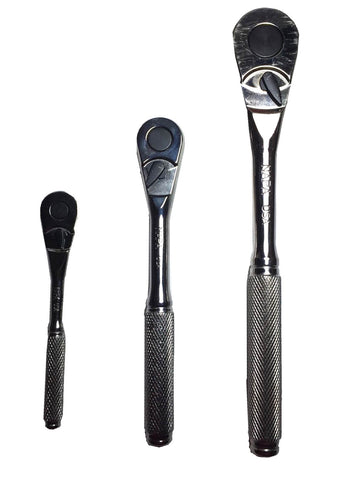 3 PC. Pear head ratchet set includes: