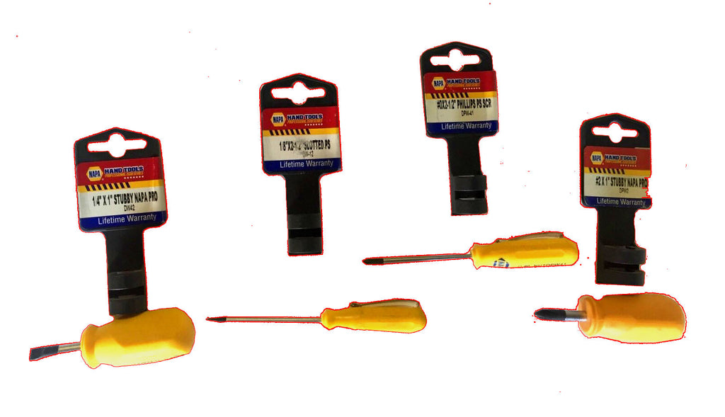 4 Pc. Small & Stubby Screwdriver Set