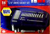 NAPA 56 piece 1/4 inch drive socket wrench set