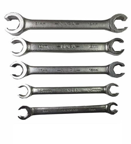 Napa 5 PC. Metric Flare Nut Wrench Set - USA