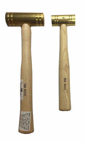 NAPA 2 Pc. Brass Hammer Set w/ Hickory Handles 2 lb, 1 lb - Made in the USA