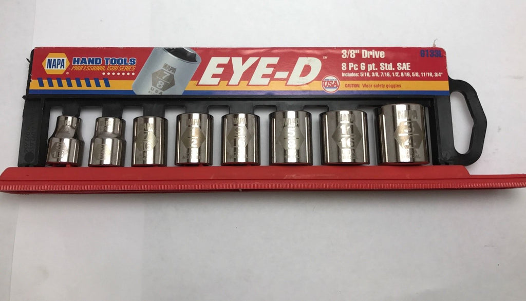 "NAPA Eye-D 3/8"" Dr. 8 Pc. Standard Socket Set Sae - USA"