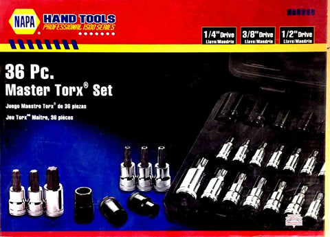 36 pc Master Torx Bit Socket Set