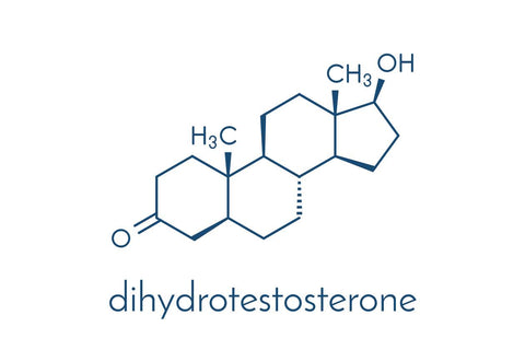 chemical symbol for DHT which causes hair loss in women