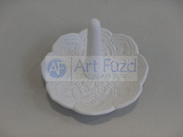 Flower Ring Holder ~ 4 in. dia. x 3 in. high